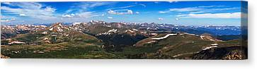 Greys And Torreys Pano Canvas Print by Darren  White