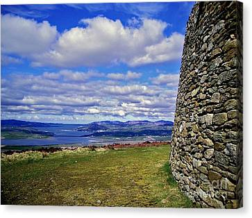 Grianan Of Aileach View Canvas Print by Nina Ficur Feenan