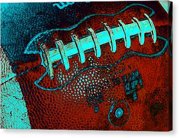 Gridiron Tool - The Football Canvas Print by David Patterson