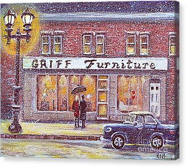 Griff Valentines' Birthday Canvas Print by Rita Brown