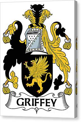 Griffey Coat Of Arms Irish Canvas Print by Heraldry