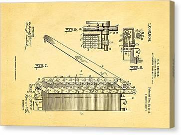 Griffin Confetti Maker Patent Art 1913 Canvas Print by Ian Monk