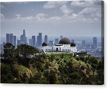 Griffith Observatory Canvas Print by Eduard Moldoveanu