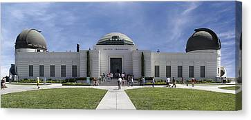 Griffith Observatory - Panoramic Canvas Print by Mike McGlothlen