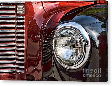 Grill And Headlamp Canvas Print