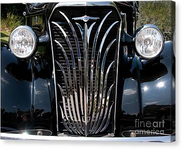 Grill And Headlights Canvas Print by Vivian Christopher