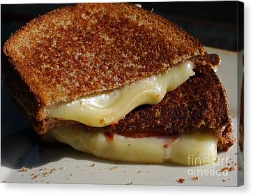 Grilled Cheese Canvas Print by Denise Pohl
