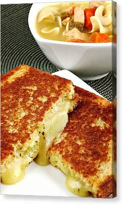 Grilled Cheese Canvas Print by Karin Hildebrand Lau