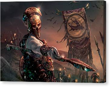 Grim Guardian Canvas Print by Ryan Barger