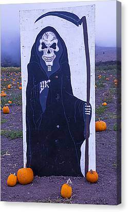 Grim Reaper Sign Canvas Print by Garry Gay