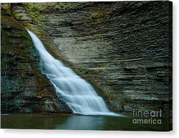 Finger Lakes Canvas Print - Grimes Glen Naples Ny by Steve Clough