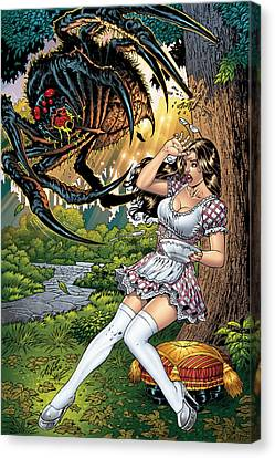 Little Miss Muffet Canvas Print - Grimm Fairy Tales 16 by Zenescope Entertainment