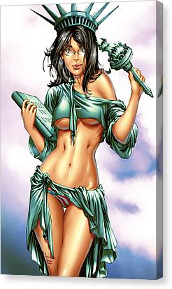 Grimm Fairy Tales 2012 Giant Sized Edition Nycc Exclusive Canvas Print by Zenescope Entertainment
