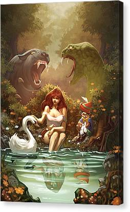 Grimm Fairy Tales Pinocchio And Belinda Canvas Print by Zenescope Entertainment