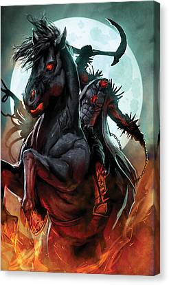 Grimm Fairy Tales Presents Sleepy Hollow 01a 0 - The Headless Horseman Canvas Print by Zenescope Entertainment