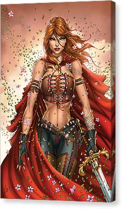 Comic Book Canvas Print - Grimm Fairy Tales Unleashed 04c Belinda by Zenescope Entertainment