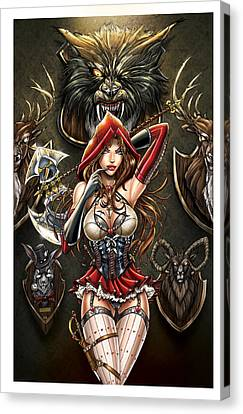 Grimm Myths And Legends 01e - Red Riding Hood Canvas Print by Zenescope Entertainment