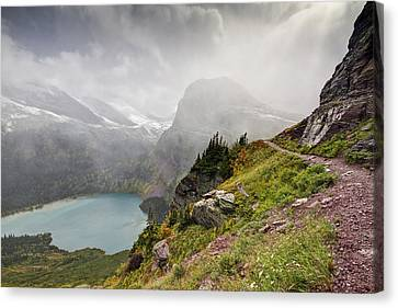 Glacier National Park Canvas Print - Grinnell Glacier Trail by Mark Kiver
