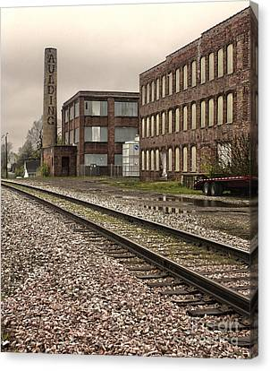 Grinnell Iowa - Aulding Building - 01 Canvas Print by Gregory Dyer