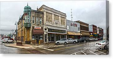 Grinnell Iowa - Downtown - 01 Canvas Print by Gregory Dyer