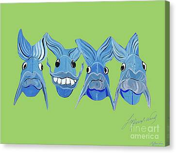 Grinning Fish Canvas Print
