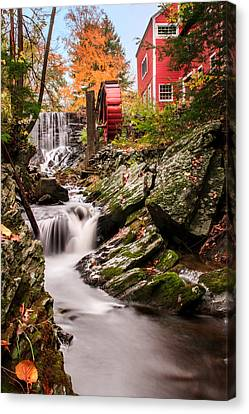 Old Mill Scenes Canvas Print - Grist Mill-bridgewater Connecticut by Expressive Landscapes Fine Art Photography by Thom