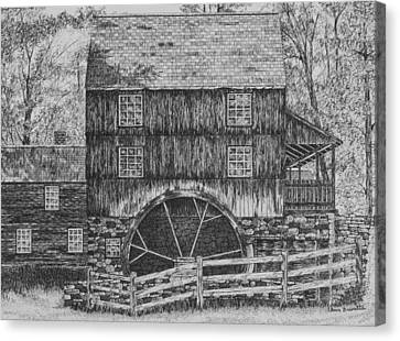Grist Mill Canvas Print by Christine Brunette