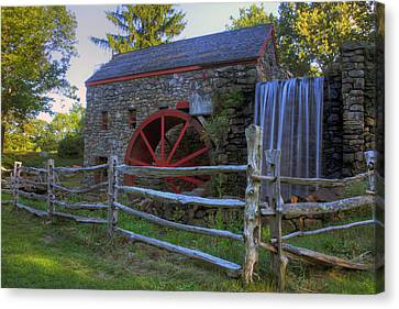 Martha Mary Chapel Canvas Print - Grist Mill by David Simons