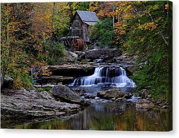 Grist Mill Falls Canvas Print by Lone Dakota Photography
