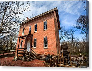 Grist Mill In Northwest Indiana Canvas Print by Paul Velgos