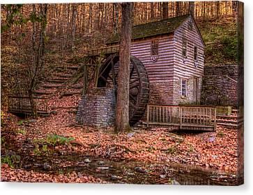 Old Mills Canvas Print - Grist Mill In Tennessee by Joe Granita