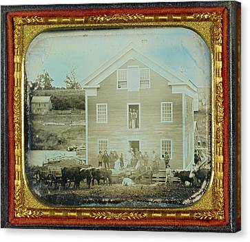 Grist Mill Unknown Maker, American About 1845 Daguerreotype Canvas Print by Litz Collection
