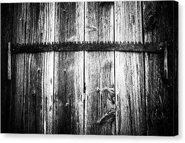 Grit Determination And Hard Work Bw Carpenter Canvas Print by Parker Cunningham