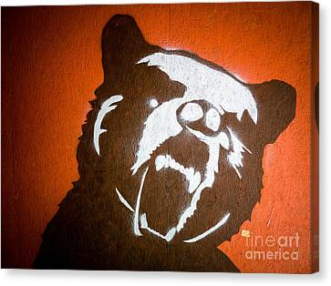 Grizzly Bear Graffiti Canvas Print by Edward Fielding