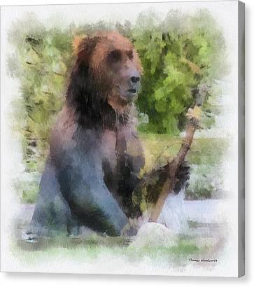 Grizzly Bear Photo Art 01 Canvas Print