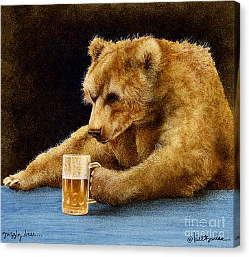 Grizzly Beer... Canvas Print by Will Bullas