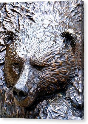 Grizzly Canvas Print by Charlie and Norma Brock
