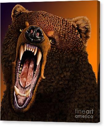 Grizzly Canvas Print by Jurek Zamoyski