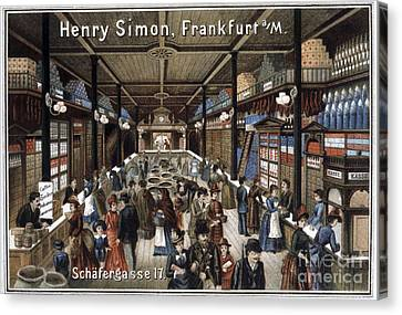 Grocery Store, Historical Artwork Canvas Print