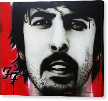 Dave Grohl - ' Grohl ' Canvas Print by Christian Chapman Art