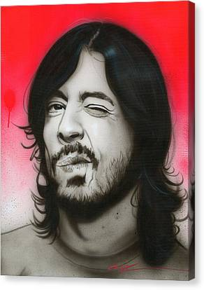 Fighters Canvas Print - Grohl IIi by Christian Chapman Art