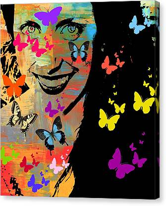 Groovy Butterfly Gal Canvas Print