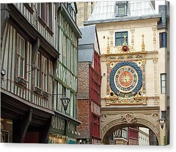 Gros Horloge, Rouen, Normandy, France Canvas Print by Alex Bartel