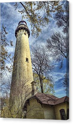 Grosse Point Lighthouse Color Canvas Print by Scott Norris