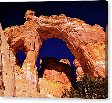 Grosvenor Arch Sunset Kodachrome Basin Canvas Print by Ed  Riche