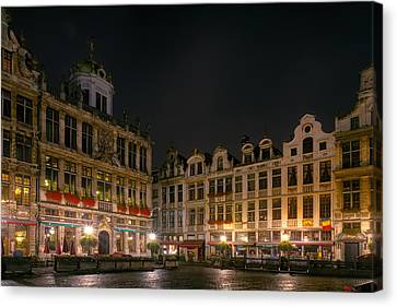 Grote Markt Brussels Canvas Print by Joan Carroll