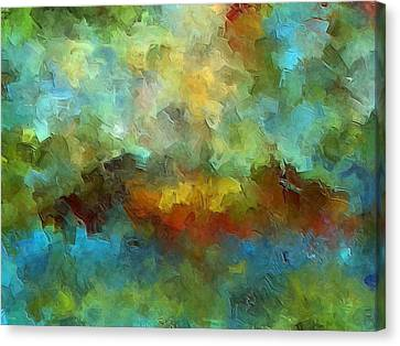 Abstract Expressionism Canvas Print - Grotto by Ely Arsha