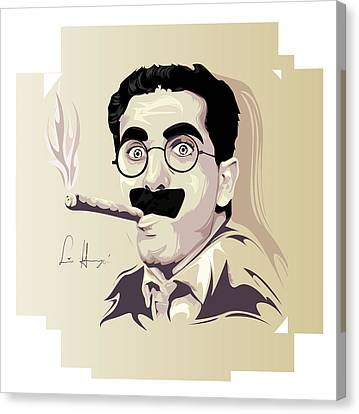 Groucho Marx Canvas Print by Lina Garzon