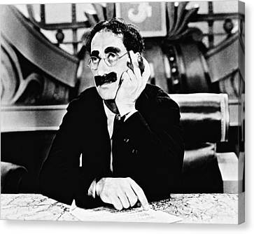 Groucho Marx Canvas Print by Silver Screen
