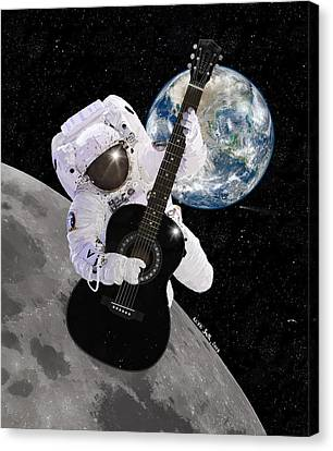 Astronauts Canvas Print - Ground Control To Major Tom by Nikki Marie Smith